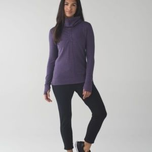 Lululemon In A Cinch Reversible Cowl Neck Pullover